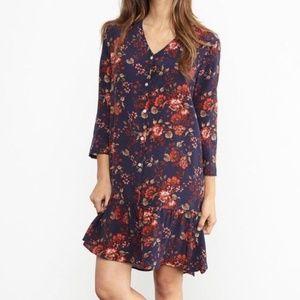 NWOT Amour Vert Ingrid 100% Silk Printed Dress